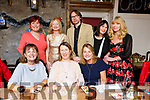 Tralee Ukulele Orchestra celebrating with their Christmas Party and a triple birthday celebrations of Sergey Udaltsov, Audrey O&rsquo;Carroll and Lucy Crowe from Tralee in Croi Restaurant on Saturday night.<br /> Seated l-r, Mairead Moriarty, Audrey O&rsquo;Carroll and Lucy Crowe.<br /> Back l-r, Elizabeth Elton, Sally Ryle, Sergey Udaltsov, Geraldine Ward and Mary Purcell.