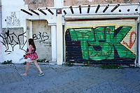 Urban graffiti in downtown, Cancun, Quintana Roo, Mexico
