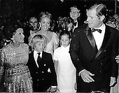 "Washington, DC - (FILE) -- United States Senator Edward M. ""Ted"" Kennedy (Democrat of Massachusetts) and his family arrive for the opening of the John F. Kennedy Center for the Performing Arts in Washington, D.C. on September 8, 1971.  From left to right: Mrs. Rose Kennedy, Edward M. Kennedy, Jr., Mrs. Joan Kennedy, Kara Anne Kennedy, and Senator Kennedy..Credit: Benjamin E. ""Gene"" Forte / CNP"