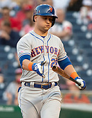 New York Mets third baseman J.D. Davis (28) returns to the dugout after striking-out in the first inning against the Washington Nationals at Nationals Park in Washington, D.C. on Wednesday, May 15, 2019.<br /> Credit: Ron Sachs / CNP<br /> (RESTRICTION: NO New York or New Jersey Newspapers or newspapers within a 75 mile radius of New York City)