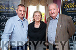 Liam and Kitty Cummins, Abbeyfeale and Jerry Kennelly  at the Women in Media conference in Kilcooley's, Ballybunion on Sunday.