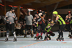 NELSON, NEW ZEALAND June 29: Roller Derby, Nelson Shipwreckers v Timaru Derby Dames, Nelson Roller Rink, Nelson, June 29, 2019, (Photos by Barry Whitnall/Shuttersport Limited)