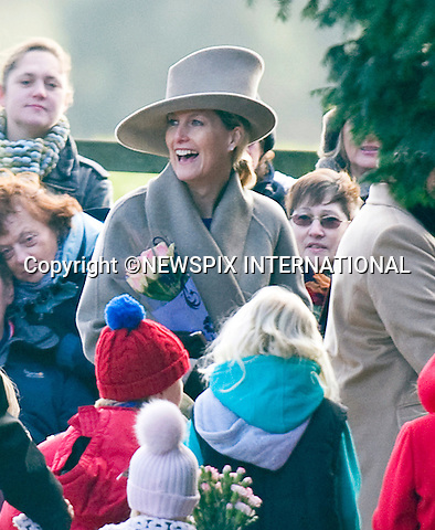"SOPHIE COUNTESS OF WESSEX ATTENDS CHURCH SERVICE.The Queen, Prince Philip and  Prince Edward, Sophie, Countess of Wessex attended Sunday Mass at St. Mary Magdalene's on the Sandringham Estate_30/12/2012.Kate and Prince William hio reported to be at Sandringham did not attend..©NEWSPIX INTERNATIONAL..Mandatory credit photo:NEWSPIX INTERNATIONAL(Failure to credit will incur a surcharge of 100% of reproduction fees)..**ALL FEES PAYABLE TO: ""NEWSPIX  INTERNATIONAL""**..Newspix International, 31 Chinnery Hill, Bishop's Stortford, ENGLAND CM23 3PS.Tel:+441279 324672.Fax: +441279656877.Mobile:  07775681153.e-mail: info@newspixinternational.co.uk"