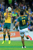 9th September 2017, nib Stadium, Perth, Australia; Supersport Rugby Championship, Australia versus South Africa; Israel Folau of the Australian Wallabies catches the ball during the second half