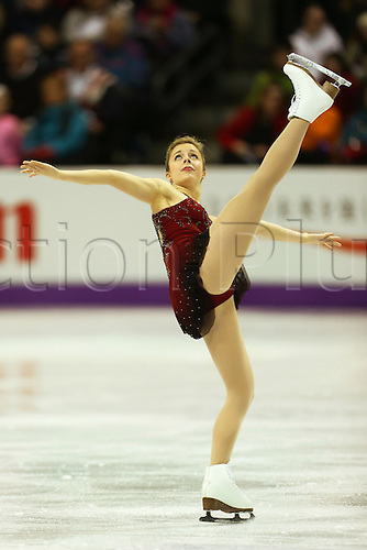 14.03.2013. London, Canada. Ashley Wagner (USA), ISU World Figure Skating Championships 2013, Women's Short Program .at Budweiser Gardens, London, Canada. .