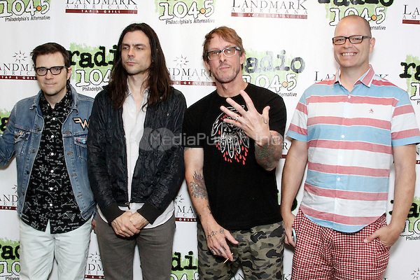BALA CYNWYD, PA - JULY 5 :  Weezer visit Radio 104.5 performance studio in Bala Cynwyd, Pa on July 5, 2016  photo credit Star Shooter / MediaPunch