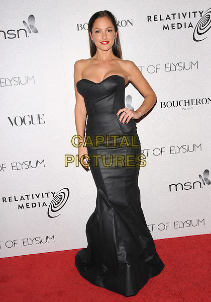 "MINKA KELLY .at Art of Elysium 3rd Annual Black Tie charity gala '""Heaven"" held at 990 Wilshire Blvd in Beverly Hills, California, USA, January 16th 2010 .                                                                  arrivals full length black dress strapless long maxi hand on hip leather .CAP/RKE/DVS.©DVS/RockinExposures/Capital Pictures"