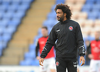 Fleetwood Town Sports Scientist Youl Mawene during the pre-match warm-up <br /> <br /> Photographer Kevin Barnes/CameraSport<br /> <br /> The EFL Sky Bet League One - Shrewsbury Town v Fleetwood Town - Tuesday 1st January 2019 - New Meadow - Shrewsbury<br /> <br /> World Copyright © 2019 CameraSport. All rights reserved. 43 Linden Ave. Countesthorpe. Leicester. England. LE8 5PG - Tel: +44 (0) 116 277 4147 - admin@camerasport.com - www.camerasport.com
