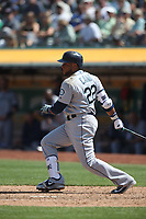 OAKLAND, CA - AUGUST 15:  Robinson Cano #22 of the Seattle Mariners bats against the Oakland Athletics during the game at the Oakland Coliseum on Wednesday, August 15, 2018 in Oakland, California. (Photo by Brad Mangin)