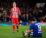 Atletico Madrid's Antoine Griezmann watches Chelsea's Alvaro Morata during the Champions League Group C match at the Stamford Bridge, London. Picture date: December 5th 2017. Picture credit should read: David Klein/Sportimage