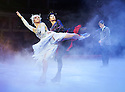 Swan Lake on Ice performed by The Imperial Ice Stars choreographed by Tony Mercer with music by Tchaikovsky. With Olena Pyatash as The Black Swan , Olga Sharutenko as The White Swan, Andrey Penkin as Siegfried. Opens at The Royal Albert Hall on 18/5/12  .CREDIT Geraint Lewis