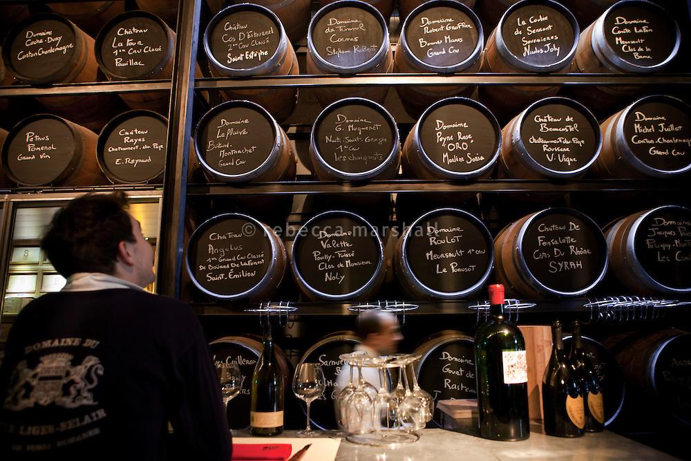 Wine bar at Rue le Bec, Lyon, France, 14 January 2012
