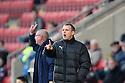 Stevenage manager Gary Smith. Crewe Alexandra v Stevenage - npower League 1 - The Alexandra Stadium, Gresty Road, Crewe - 5th January, 2013. © Kevin Coleman 2013.