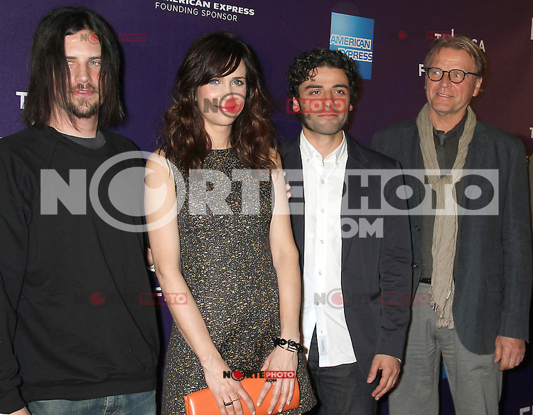 April 21, 2012 Brian Petsos, Kristen Wiig, Oscar Isaac and David Rasche attend the premiere of  Revenge for Jolly -2012 Tribeca Film Festival at the Chelsea Clearview Cinemas  in New York City. ©RW/MediaPunch Inc.
