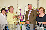 FE?ILE NA mBLA?ITH: Eilleen Phelan, Castle Demise Winner of the class 4 High Spirts and over all prize at the Fe?ile na mBla?ith on Saturday l-r: Margaret Groves, (Chairperson Tralee flower and garden club), Eilleen Phelan, Dermot O'Neill (RTE) and Mary Holly (Fe?ile na mBla?ith).   Copyright Kerry's Eye 2008