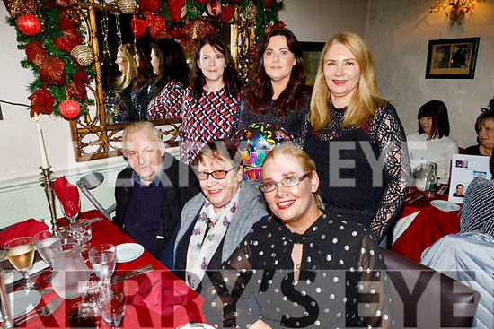 Caroline McCarthy from Castleisland celebrating her birthday in Cassidys on Saturday.<br /> Seated l to r: Mary and Maurice O'Sullivan and Mary Jo O'Sullivan.   <br /> Standing l to r: Catherine Prendergast, Caroline McCarthy and Martina O'Sullivan