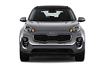 Car photography straight front view of a 2019 KIA Sportage EX 5 Door SUV