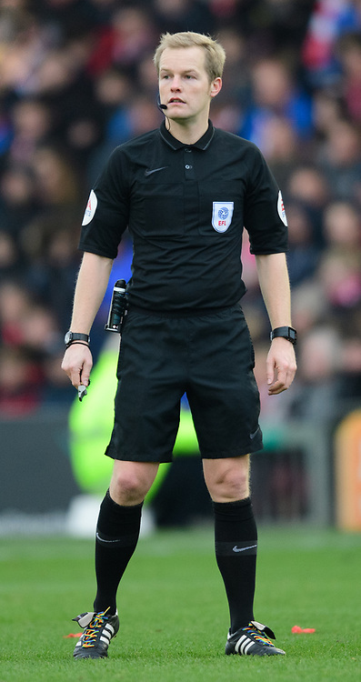 Referee Gavin Ward<br /> <br /> Photographer Chris Vaughan/CameraSport<br /> <br /> The EFL Sky Bet League Two - Lincoln City v Mansfield Town - Saturday 24th November 2018 - Sincil Bank - Lincoln<br /> <br /> World Copyright © 2018 CameraSport. All rights reserved. 43 Linden Ave. Countesthorpe. Leicester. England. LE8 5PG - Tel: +44 (0) 116 277 4147 - admin@camerasport.com - www.camerasport.com