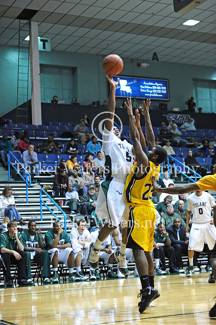 The Tulane Green Wave Men's Basketball Team take on the USM Golden Eagles at Fogelman Arena.  The Golden Eagles defeated the Green Wave 58-40.