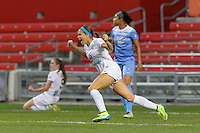 Chicago, IL - Wednesday Sept. 07, 2016: Shea Groom celebrates scoring during a regular season National Women's Soccer League (NWSL) match between the Chicago Red Stars and FC Kansas City at Toyota Park.