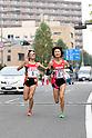 (L-R) Korei Omata, Sayuri Baba (Sekisui Kagaku), NOVEMBER 3, 2011 - Ekiden : East Japan Industrial Women's Ekiden Race at Saitama, Japan. (Photo by Toshihiro Kitagawa/AFLO)