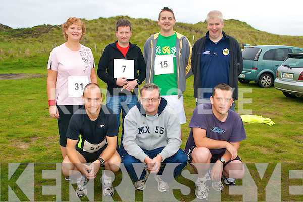 BANNA RACE: The Abbeydorney Running Club racing at the 10KM Banna Road Race on Sunday front l-r: Tony Corridon, Tom Scanlon and Seamus Falvey. Back l-r: Eileen Falvey, Donal Dillane, Brian O'Shea and Dermot Dillane.