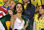 06 June 2008: A Brazil fan. The Venezuela Men's National Team defeated the Brazil Men's National Team 2-0 at Gillette Stadium in Foxboro, Massachusetts in an international friendly soccer match.
