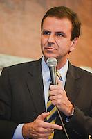 RIO DE JANEIRO-15/06/2012-O Prefeito Eduardo Paes na abertura da I Cupula Mundial de Legisladores, na ALERJ, centro do Rio.Foto:Marcelo Fonseca-Brazil Photo Press
