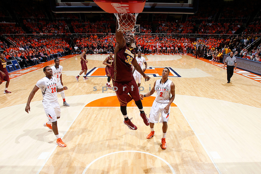 CHAMPAIGN, IL - JANUARY 9: Rodney Williams #33 of the Minnesota Golden Gophers dunks the ball against the Illinois Fighting Illini during the game at Assembly Hall on January 9, 2013 in Champaign, Illinois. Minnesota won 84-67. Rodney Williams