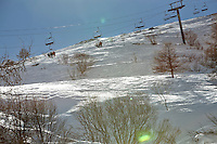 Ski lifts, Bonneval sur Arc, Savoie, France, 17 February 2012.