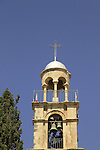 The bell tower at the Greek Orthodox Church in Eizariya, site of Bethany on the eastern slope of the Mount of Olives