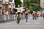 2018-07-07 / Wielrennen / Seizoen 2018 / Etappe 2 Sint Martinus Prijs Kontich junioren / De Duitser Leslie L&uuml;hrs won de spurt van de vluchters<br /> <br /> ,Foto: Mpics