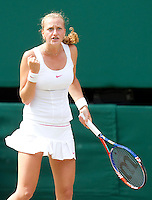 Petra Kvitova (CZE) against Serena Williams (USA) (1) in the semi-finals of the ladies singles. Serena Williams beat Petra Kvitova 7-6 6-2   ..Tennis - Wimbledon Lawn Tennis Championships - Day 11 Fri 2nd Jul 2010 -  All England Lawn Tennis and Croquet Club - Wimbledon - London - England..© FREY - AMN IMAGES  Level 1, Barry House, 20-22 Worple Road, London, SW19 4DH.TEL - +44 (0) 20 8947 0100.Email - mfrey@advantagemedianet.com.www.advantagemedianet.com