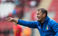 Italy U17 Manager (Coach) Carmine Nunziata during the UEFA Under-17 Euro Championship semi-final match between Italy and Belgium at the New York Stadium, Rotherham, England on 17 May 2018. Photo by Andy Rowland.
