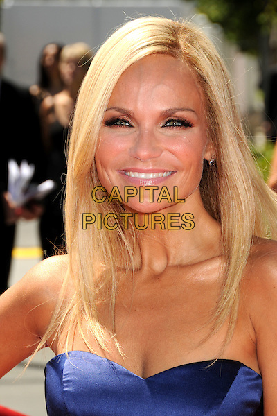 KRISTIN CHENOWETH .62nd Annual Primetime Creative Arts Emmy Awards - Arrivals held at Nokia Theatre L.A. Live, Los Angeles, CA, USA, 21st August 2010..emmys arrivals portrait headshot strapless blue smiling make-up .CAP/ADM/BP .©Byron Purvis/AdMedia/Capital Pictures.