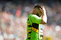 Kieran Brookes of Northampton Saints looks dejected after his side concede a try. Aviva Premiership match, between Saracens and Northampton Saints on September 2, 2017 at Twickenham Stadium in London, England. Photo by: Patrick Khachfe / JMP
