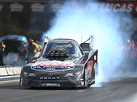 Jun 16, 2017; Bristol, TN, USA; NHRA funny car driver Del Worsham during qualifying for the Thunder Valley Nationals at Bristol Dragway. Mandatory Credit: Mark J. Rebilas-USA TODAY Sports