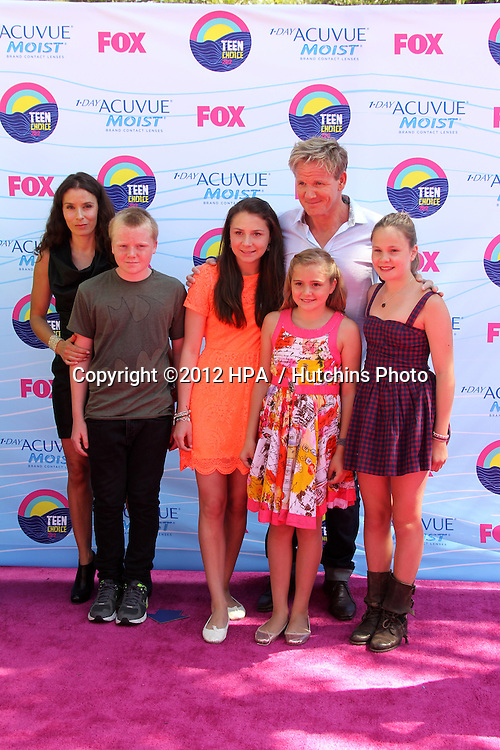 LOS ANGELES - JUL 22:  Gordon Ramsey arriving at the 2012 Teen Choice Awards at Gibson Ampitheatre on July 22, 2012 in Los Angeles, CA