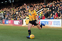 Jake Carroll of Cambridge United during Cambridge United vs Port Vale, Sky Bet EFL League 2 Football at the Cambs Glass Stadium on 9th February 2019
