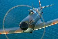 MkI Spitfire over sea <br /> photo John Dibbs<br /> Spitfire (2018)<br /> *Filmstill - Editorial Use Only*<br /> CAP/PLF<br /> Image supplied by Capital Pictures