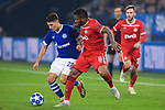 11.12.2018, VELTINS Arena, Gelsenkirchen, Deutschland, GER, UEFA Champions League, Gruppenphase, Gruppe D, FC Schalke 04 vs. FC Lokomotiv Moskva / Moskau<br /> <br /> DFL REGULATIONS PROHIBIT ANY USE OF PHOTOGRAPHS AS IMAGE SEQUENCES AND/OR QUASI-VIDEO.<br /> <br /> im Bild Zweikampf zwischen Alessandro Schöpf / Schoepf (#28 Schalke) und Jefferson Farfan (#8 Moskau)<br /> <br /> Foto © nordphoto / Kurth