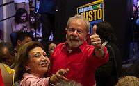 """SÃO PAULO, SP, 10.11.2016 – LULA-SP – O ex presidente da República Luiz Inácio Lula da Silva durante lançamento da campanha """"Um Brasil justo pra todos e pra Lula"""" em um encontro com representantes do partido do PT e movimentos sociais do MST e União da Juventude Secundarista na Casa de Portugal, na Liberdade, no centro de São Paulo, nesta quinta-feira (10). (Foto: Daia Oliver/ Brazil Photo Press)"""