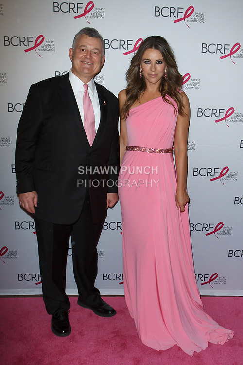 "William Lauder and Elizabeth Hurley attend The Breast Cancer Research Foundation ""Super Nova"" Hot Pink Party on May 12, 2017 at the Park Avenue Armory in New York City."