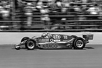 INDIANAPOLIS, IN - MAY 31: Michael Andretti drives his March 86C 17/Cosworth en route to a second place finish in the Indianapolis 500 USAC Indy Car race at the Indianapolis Motor Speedway in Indianapolis, Indiana, on May 31, 1986.