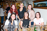 NIGHT OUT: Ladies from Ardfert Parent and Toddler group held their 3rd annual dinner night out in Bella Bia restaurant,Tralee last Friday. Seated were l-r: Gosia Hurley, Eavan O'Connor and Caroline Callaghan. Back l-r: Michelle Sinnett, Marijke Gielissen and Karen Galvin..