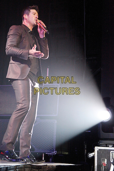 CAMDEN, NJ - MARCH 6 : Robin Thicke at the Susquehanna Bank Center in Camden, New Jersey on March 6, 2014   <br /> CAP/MPI/STA<br /> &copy;Star Shooter/MediaPunch/Capital Pictures