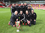 Sheffield United's award winning groundman team with the League One trophy during the League One match at Bramall Lane, Sheffield. Picture date: April 30th, 2017. Pic David Klein/Sportimage