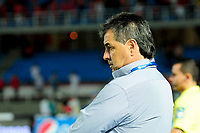 CALI- COLOMBIA, 24-10-2017: Jorge Da Silva Drector técnico del América de Cali en su cpartido contra Patriotas Boyacá.Partido partido por la fecha 16 de la Liga Aguila II 2017 jugado en el estadio Pascual Guerrero de la ciudad de Cali. / Jorge Da Silva coach of America de Cali agaisnt  Patriotas Boyaca during match for the date 16 of the Liga Aguila II 2017played at the Pascual Guerrero Stadium in Cali city. Photo: Vizzorimage / Nelson Rios / Contribuidor