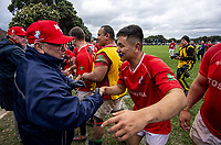 Action from the 2019 Wellington premier reserve division two HD Morgan Memorial Cup rugby final between Marist St Pats and Old Boys United at Petone Rec in Wellington, New Zealand on Saturday, 27 July 2019. Photo: Dave Lintott / lintottphoto.co.nz