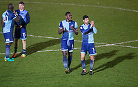 Wycombe players at full time during the Sky Bet League 2 match between Wycombe Wanderers and Plymouth Argyle at Adams Park, High Wycombe, England on 14 March 2017. Photo by Andy Rowland / PRiME Media Images.